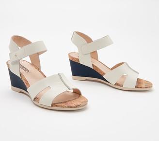 PIKOLINOS Leather Ankle Strap Wedge Sandals - Vigo