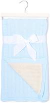 Light Blue & White Sherpa Stroller Blanket