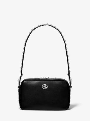 Michael Kors Monogramme Studded Leather Camera Bag