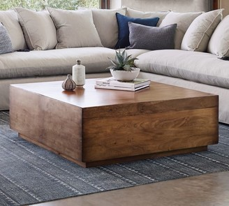 """Pottery Barn Parkview 36"""" Reclaimed Wood Coffee Table"""