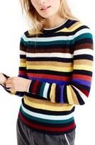 J.Crew Multistripe Supersoft Wool Sweater