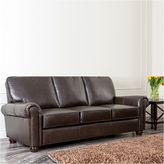 Asstd National Brand Olivia Leather Roll-Arm Sofa