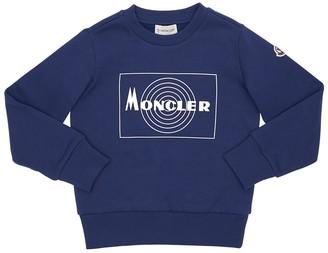Moncler Rubberized Logo Cotton Sweatshirt