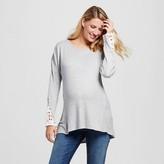 MaCherie Maternity Crochet Sleeve Tunic Gray