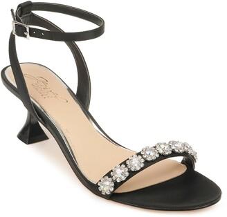 Badgley Mischka Fantasia Crystal Embellished Sandal