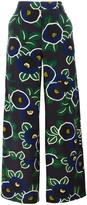 Tory Burch floral print pants - women - Silk/Polyester - 4
