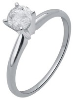 1/2 CT. T.W. IGL certified Round-cut Diamond Solitaire Prong Set Ring in 14K White Gold (HI-I3)
