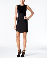 Kensie Velvet Contrast Sheath Dress
