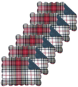 C&F Home C & F Home Lennox Plaid Quilted Placemat, Set of 6