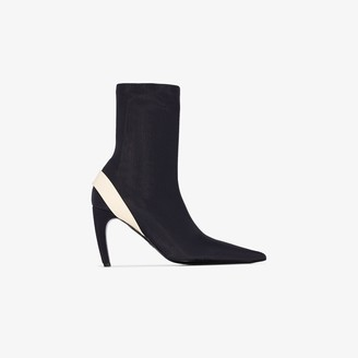 Proenza Schouler Black 90 Stretch Ankle Boots