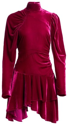 Rotate by Birger Christensen N.25 Velvet Mini A-Line Dress