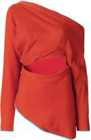 Richard Malone drape split off shoulder top