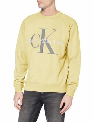 Calvin Klein Jeans Men's Vegetable DYE Monogram Crew Neck Sweatshirt