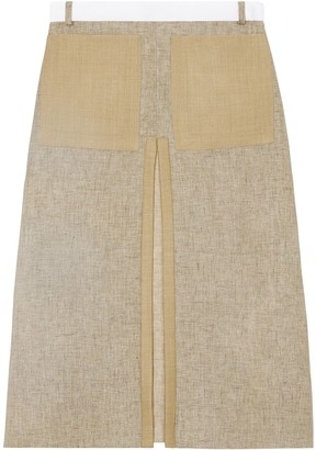 Burberry box-pleat A-line skirt