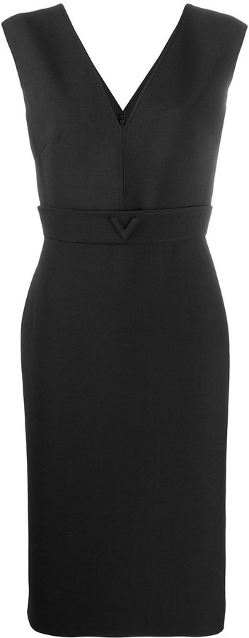 Valentino V-detail midi dress