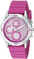 Fossil Women's ES4220 Modern Pursuit Sport Chronograph Hot Pink Silicone Watch