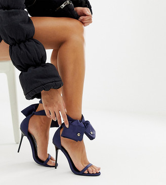 Asos Design DESIGN x LaQuan Smith heeled sandal with ankle tie