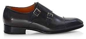 Santoni Men's Double Monk-Strap Leather Oxfords