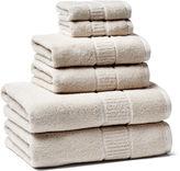 Peacock Alley 6-Pc Dublin Towel Set, Linen