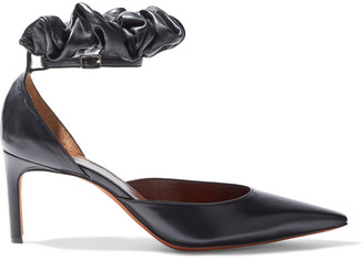 Altuzarra George Gathered Leather Pumps