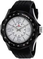 Seapro Dynamite Mens White Dial Black Silicone Strap Watch