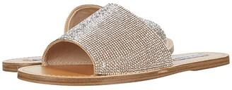Steve Madden Grace-R Flat Sandal (Rhinestone) Women's Shoes