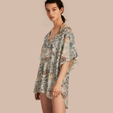 Burberry Garden Floral Cotton Silk Swimwear Cover-up