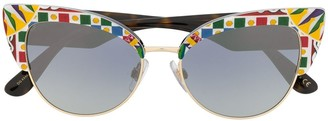 Dolce & Gabbana Eyewear Cat-Eye Sunglasses