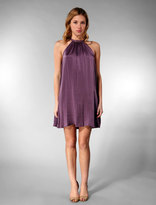 Lovestruck Button Detail Neckline Dress in Purple