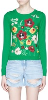 Alice + Olivia 'Connie Garden' Stace Face floral embroidered sweater