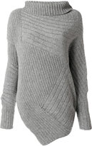 Stella McCartney asymmetric turtleneck knit - women - Virgin Wool - 38