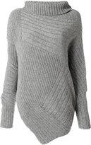 Stella McCartney asymmetric turtleneck knit