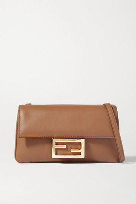 Fendi Duo Baguette Leather Shoulder Bag - Brown