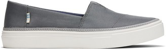 Toms Dusky Grey Textured Woven Women's Parker Slip-Ons