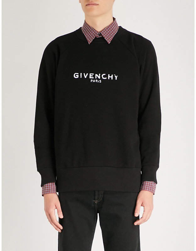 Givenchy Distressed cotton-jersey sweatshirt