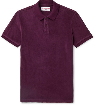 Orlebar Brown 007 Ryder Cotton-Terry Polo Shirt - Men - Purple