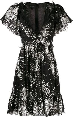 Giambattista Valli star print flared dress