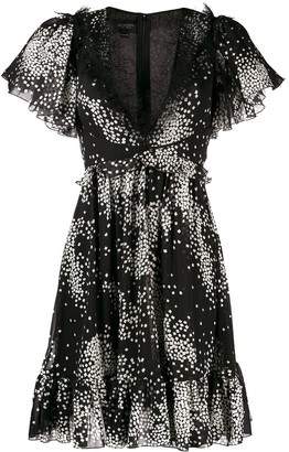 Giambattista Valli Star Print Flared Dress