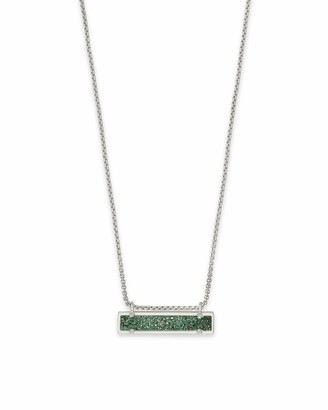 Kendra Scott Womens Leanor Necklace Sage Drusy/Rhodium One Size