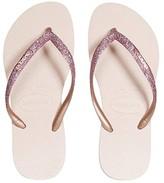 Havaianas Slim Shiny Sandals (Little Kid/Big Kid) (Ballet Rose) Girl's Shoes
