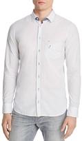 BOSS ORANGE Micro Print Dobby Slim Fit Button Down Shirt