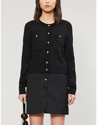 Claudie Pierlot Mallise quilted-effect woven cardigan