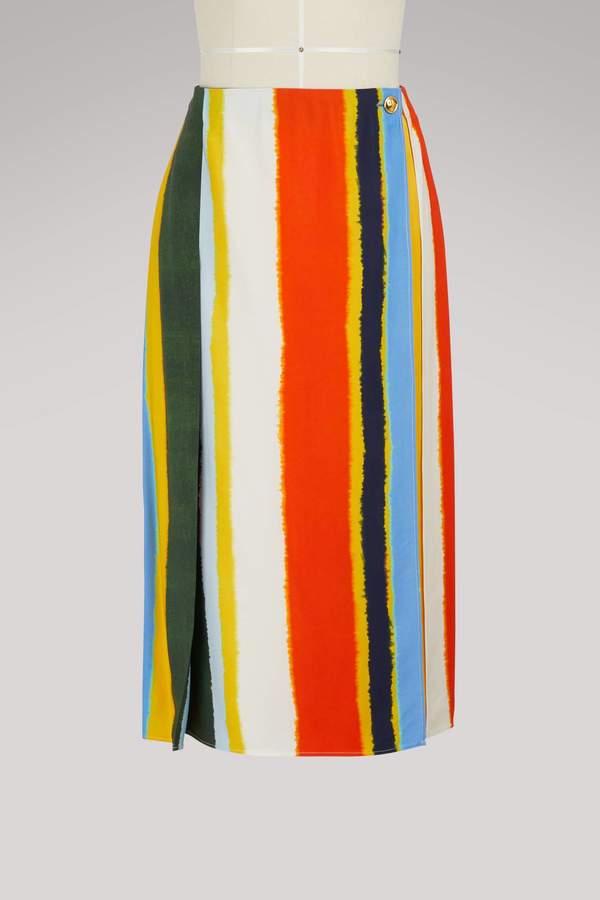 Tory Burch Fiona striped skirt