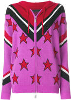 Frankie Morello star intarsia hooded cardigan