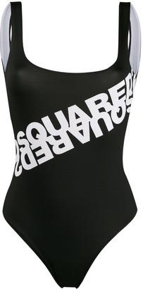 DSQUARED2 Logo Print Swimsuit