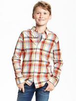 Old Navy Regular-Fit Classic Plaid Shirt for Boys