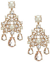Kate Spade Posy Petals Pearl Flower Chandelier Statement Earrings