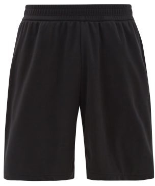 Burberry Debson Side-stripe Jersey Shorts - Black
