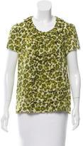Kate Spade Leopard Print Silk Top