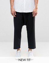 Asos Extreme Drop Crotch Smart Pants With Tie Waist